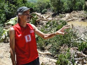 Enchente em Itaóca, SP (Foto: Alexandre Lopes/G1)