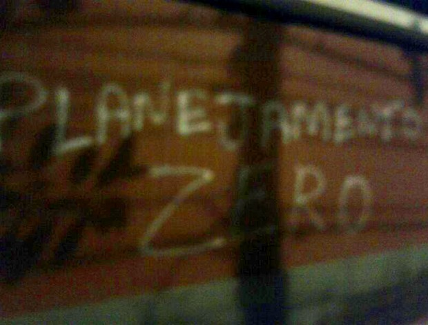 Muro pichado laranjeiras fluminense  (Foto: Reprodução)