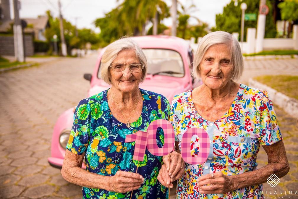 Gêmeas centenárias comemoram aniversário no dia 24 (Foto: Camila Lima Fotografia )