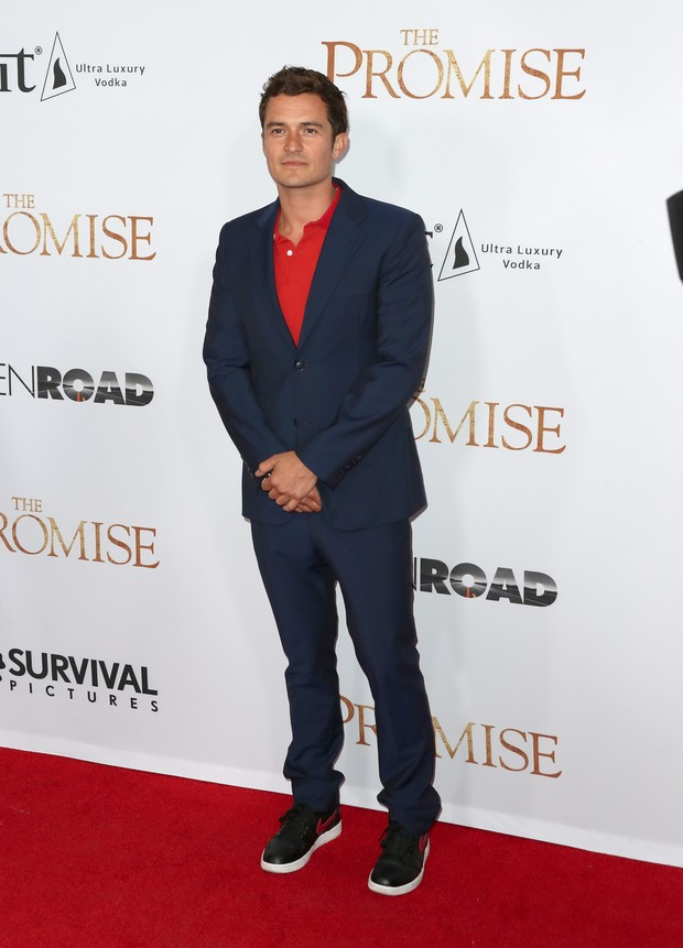 Orlando Bloom em première me Los Angeles, nos Estados Unidos (Foto: Frederick M. Brown/ Getty Images/ AFP)