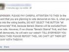 Notícias falsas sobre as eleições nos EUA se espalham pela internet