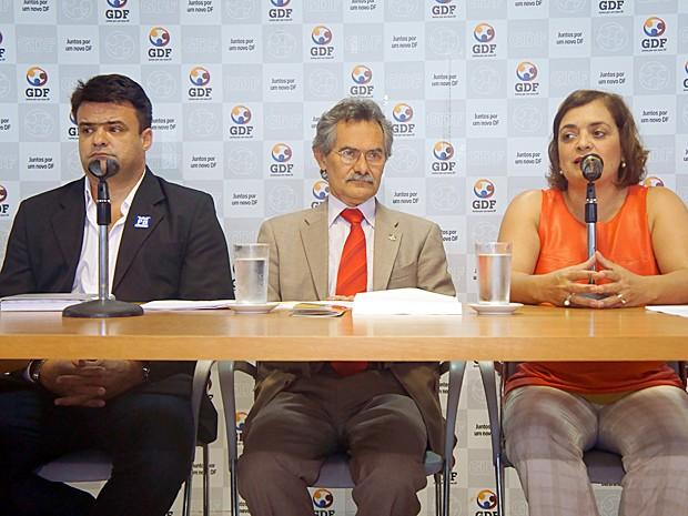 Secretário de Cultura do DF, Hamilton Pereira, anunciou nesta segunda-feira (7) os detalhes para o aniversário de Brasília (Foto: Ricardo Moreira / G1)