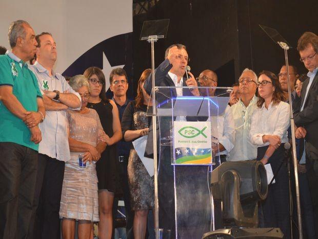 Até o fechamanento da matéria, Amorim não havia confirmado o candidato a vice  (Foto: Flávio Antunes/G1)