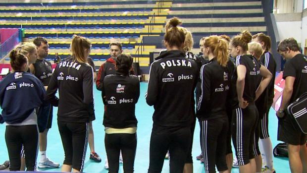 treino polônia Grand Prix feminino Campinas vôlei (Foto: Carlos Velardi / EPTV)
