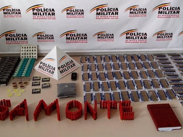 Munições Santo Antônio do Monte (Foto: Polícia Militar/Divulgação)