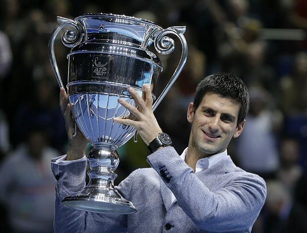 Novak Djokovic tênis Londres ATP Finals (Foto: AP)