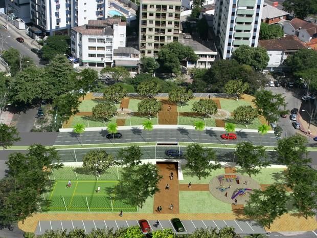 Perspecitva mostra passagem subterrânea para pedestres (Foto: Divulgação / PMV)