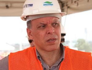 Miguel Cabobiango, coordenado da UGP Copa, em Manaus (Foto: Anderson Silva/Globoesporte.com)