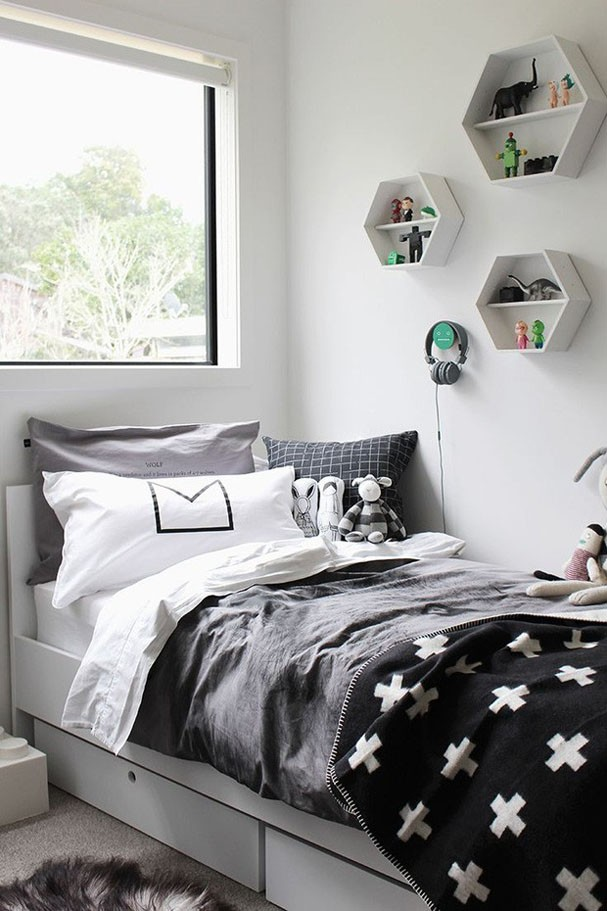 20 quartos para crian as e adolescentes casa vogue for Habitacion tumblr blanco y negro