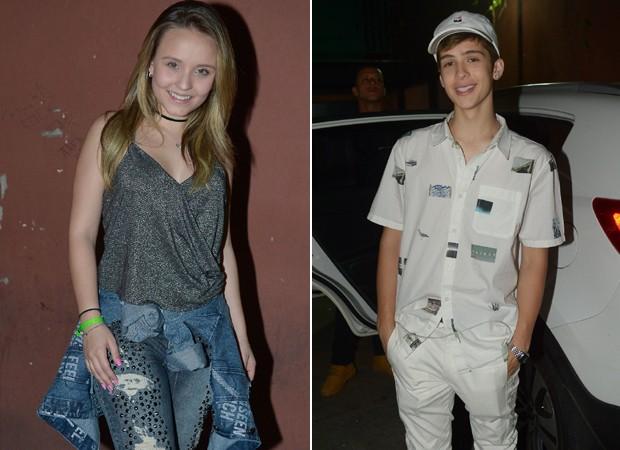 Larissa Manoela e João Guilherme (Foto: Francisco Cepeda/AgNews)