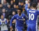 Willian e Diego Costa acertam ângulo, e Chelsea volta a vencer no Inglês