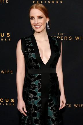 Jessica Chastain em première de filme em Los Angeles, nos Estados Unidos (Foto: Mario Anzuoni/ Reuters)