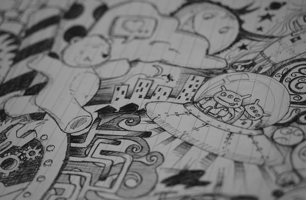Desenho - desenhar - rabisco - rabiscar - papel - arte  (Foto: Pexels)