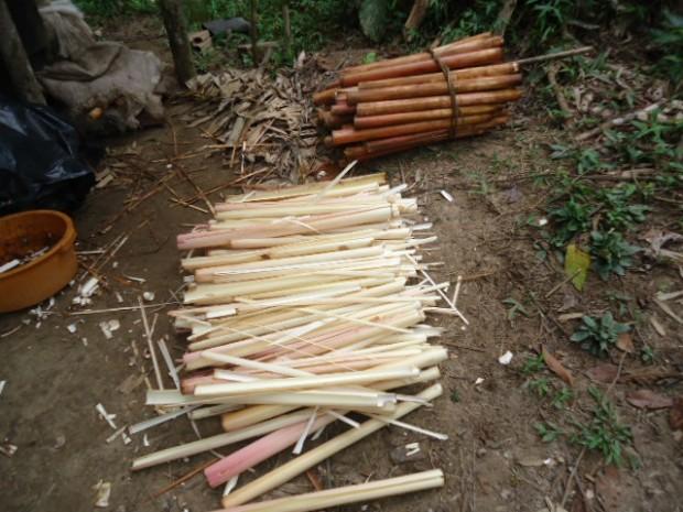 Material apreendido in natura foi doado para instituições de caridade. (Foto: Divulgação / Polícia Ambiental)