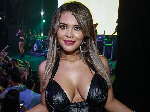 Geisy Arruda em show em São Paulo (Foto: Raphael Castello/ Ag. News)