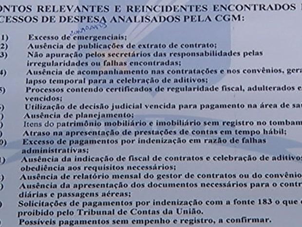 Relatório da Prefeitura de Natal apresentado ao Ministério Público do RN (Foto: Reprodução/Prefeitura do Natal)