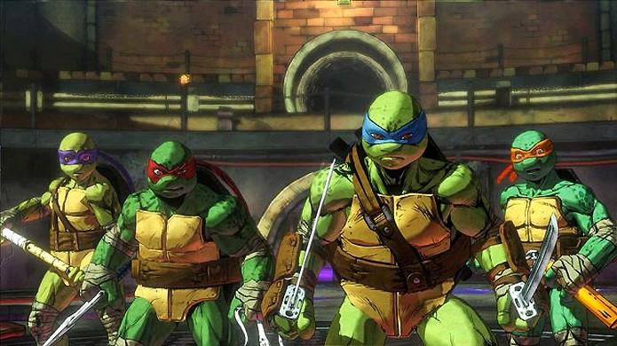 Novo jogo das tartarugas ninjas conta com coop online para 4 as tartarugas ninja esto de volta em teenage mutant ninja turtles mutants in manhattan thecheapjerseys Image collections