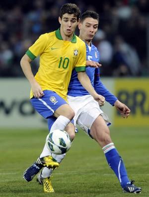 De Sciglio e Oscar, Brasil x Italia (Foto: Getty Images)