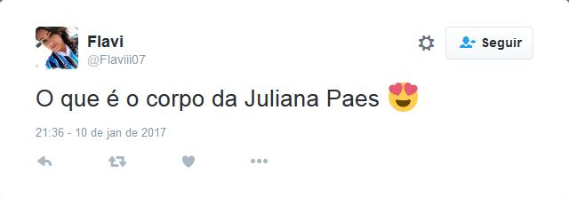 Comentários sobre a cena em que Juliana Paes apareceu nua em Dois Irmãos (Foto: Reprodução/Twitter)