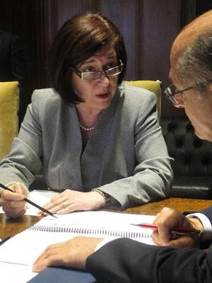 A diretora geral da ANP, Magda Chambriard, nesta quinta-feira (10) (Foto: Simone Cunha/G1)
