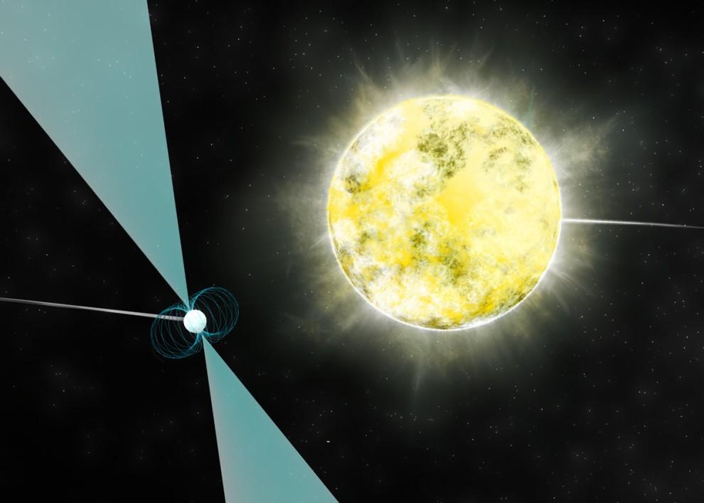 A anã-branca orbita um pulsar (Foto: reprodução)