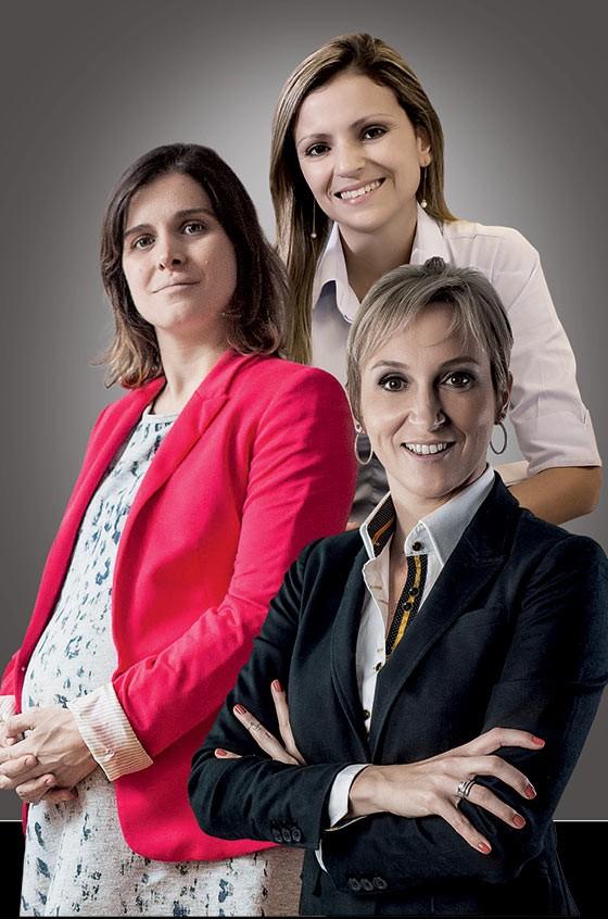 Anna Carolina Fazão, Lívia Maia simões e Giovana Mueller (Foto: Rogério Cassimiro/ÉPOCA,divulgação, Eduardo Guedes)