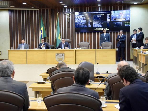 Votação do Funfir foi adiada por falta de quórum na ALRN (Foto: João Gilberto/ALRN)