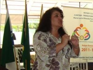 christiane Yared durante uma palestra do IPTRAN (Foto: Divulgação/ IPTRAN)