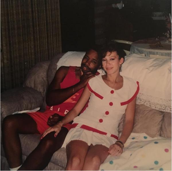 Uma foto antiga dos pais de Jordyn Wood, amiga de Kylie Jenner (Foto: Instagram)