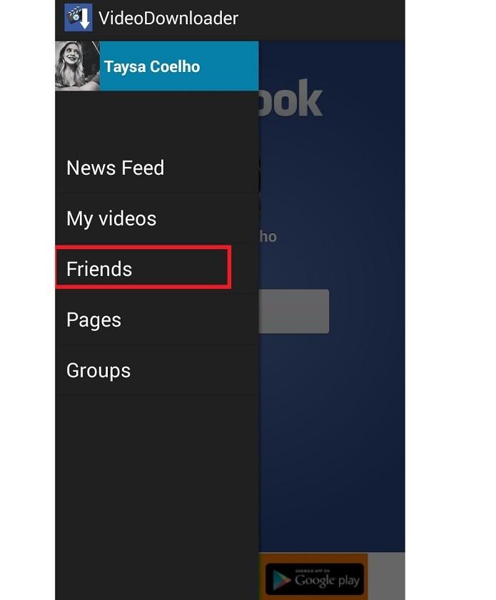 Escolha uma das opções do menu lateral (Reprodução/Taysa Coelho)