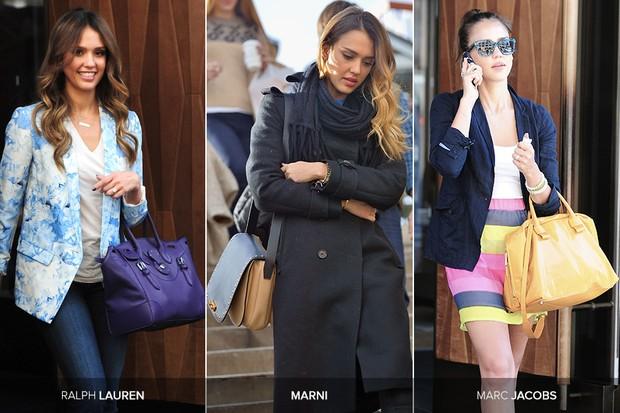 Bolsas de Jessica Alba (Foto: Getty Images)