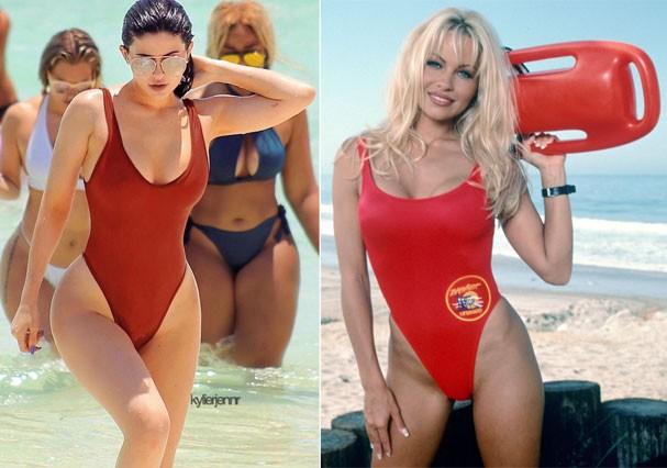 Kylie Jenner e Pamela Anderson (Foto: Reprodução)
