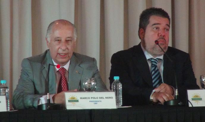 Marco Polo Del Nero e Gustavo Feijó (Foto: Leonardo Freire/GloboEsporte.com)