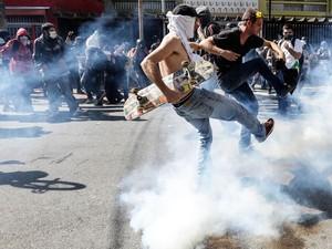 Protesto, manifestação, Carrão, Zona Leste,  (Foto: Gabriela Biló/Futura Press/Estadão Conteúdo)