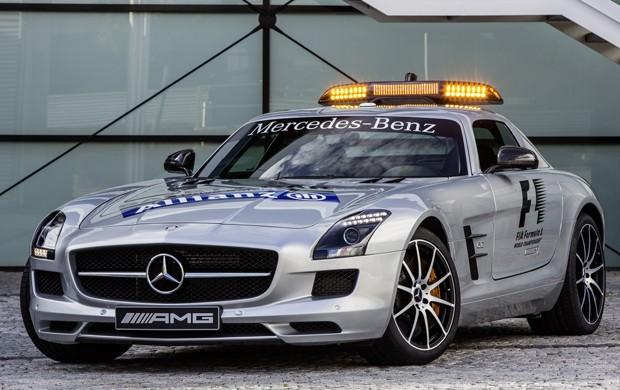 Mercedes-Benz SLS AMG GT, como safety car da Fórmula 1 (Foto: Divulgação)