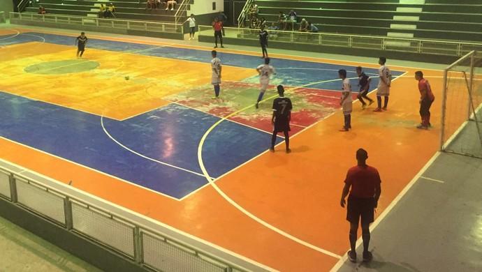 Oratório (branco), R10, Amapaense Sub-17 de futsal, Amapá (Foto: Divulgação/FAFs)
