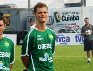 Zagueiro Ricardo Ehle, do Cuiabá Esporte Clube (Foto: Assessoria/Cuiabá Esporte Clube)