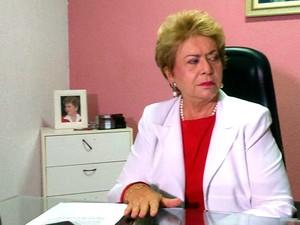 Vilma de Faria, durante entrevista coletiva no comitê do PSB em Natal  (Foto: Fred Carvalho/G1)