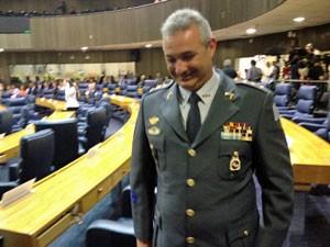 Coronel Telhada (PSDB) é um dos vereadores que tomam posse (Foto: Tatiana Santiago/G1)