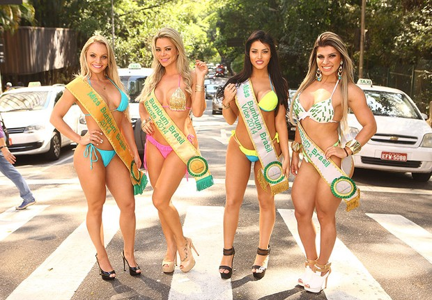 Vencedoras do Miss Bumbum  (Foto: Iwi Onodera/EGO)