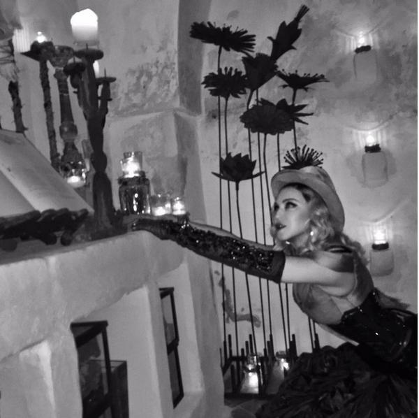 A cantora Madonna em sua festa de aniversário de 59 anos (Foto: Instagram)