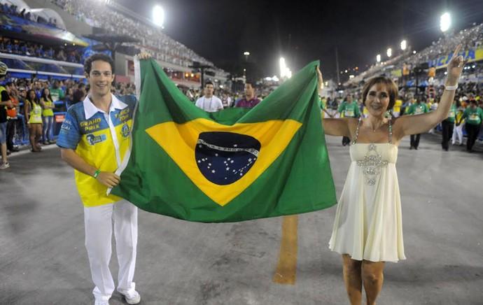 Carnaval - Sapucaí - Desfile Unidos da Tijuca - Bruno Senna e Viviane Senna (Foto: André Durão)