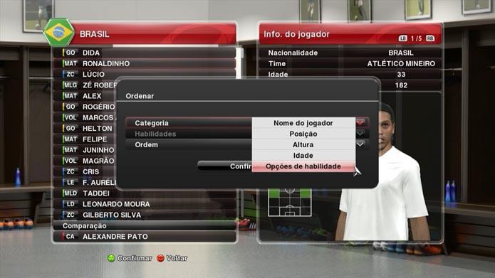 PES 2014: aprenda a convocar a sua própria seleção no game (Foto: Reprodução/Murilo Molina)