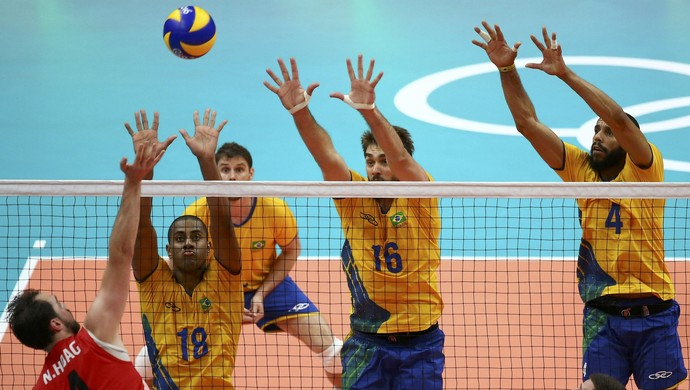 vôlei, Brasil x canadá, Lucarelli, lucão, wallace (Foto: Marcelo del Pozo / Reuters)