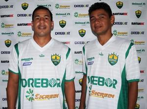 Gilsinho e Elanardo, reforço do Cuiabá (Foto: Pedro Lima/ Cuiabá Esporte Clube)