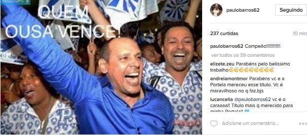 Paulo Barros (Foto: Instagram / Reprodução)