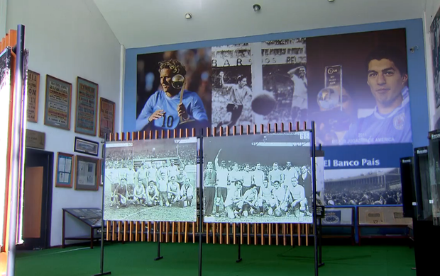 Museu do Futebol no Uruguai - SporTV Repórter (Foto: Reprodução SporTV)