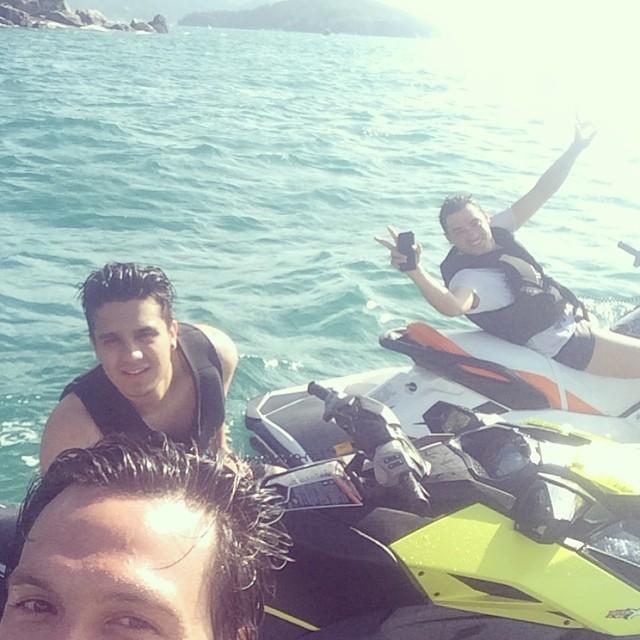 Gustavo Mendonça, Luan Santana e Fernando (Foto: Reprodução/Instagram)