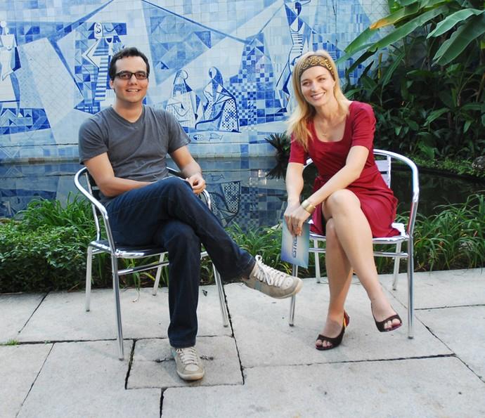 Angélica entrevista Wagner Moura em 2007 (Foto: CEDOC / TV Globo)