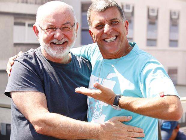 Após 10 anos, Silvio de Abreu e Jorge Fernando repetem parceria em 2012 (Foto: Guerra dos Sexos/ TV Globo)